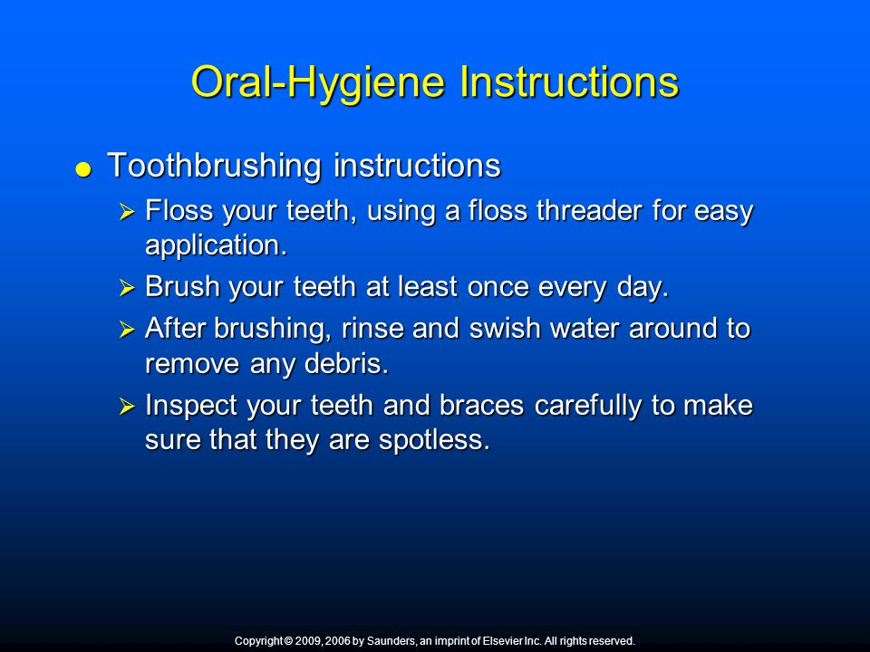 Oral-Hygiene Instructions
