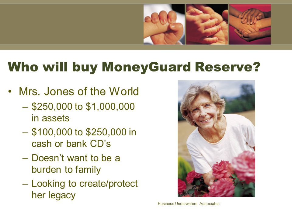 Who will buy MoneyGuard Reserve