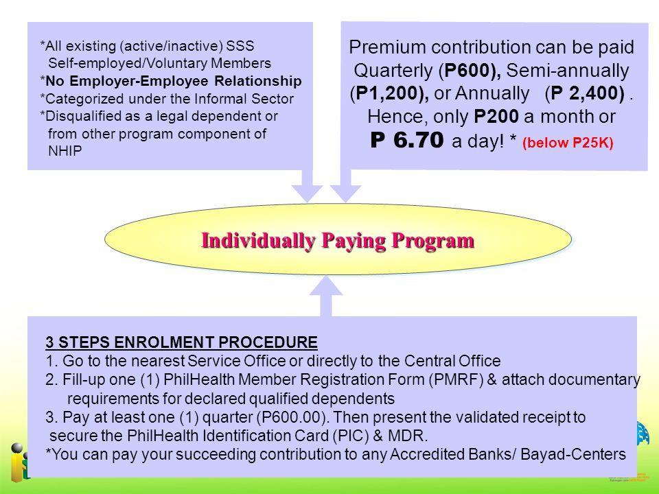 Individually Paying Program