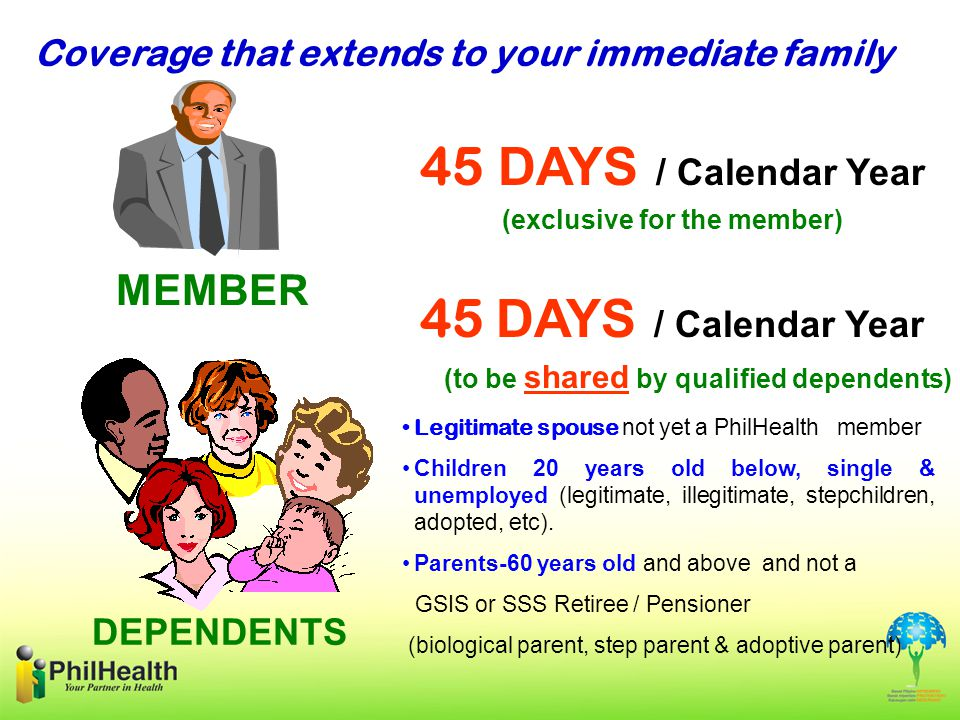 (exclusive for the member) (to be shared by qualified dependents)