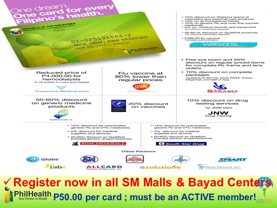 P50.00 per card ; must be an ACTIVE member!