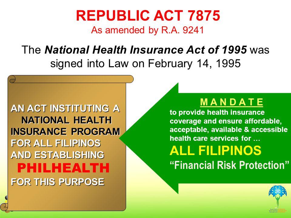 REPUBLIC ACT 7875 ALL FILIPINOS