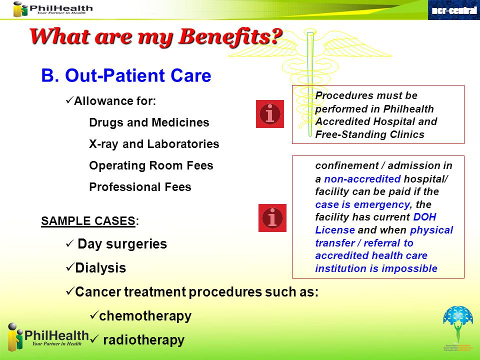 What are my Benefits B. Out-Patient Care Dialysis