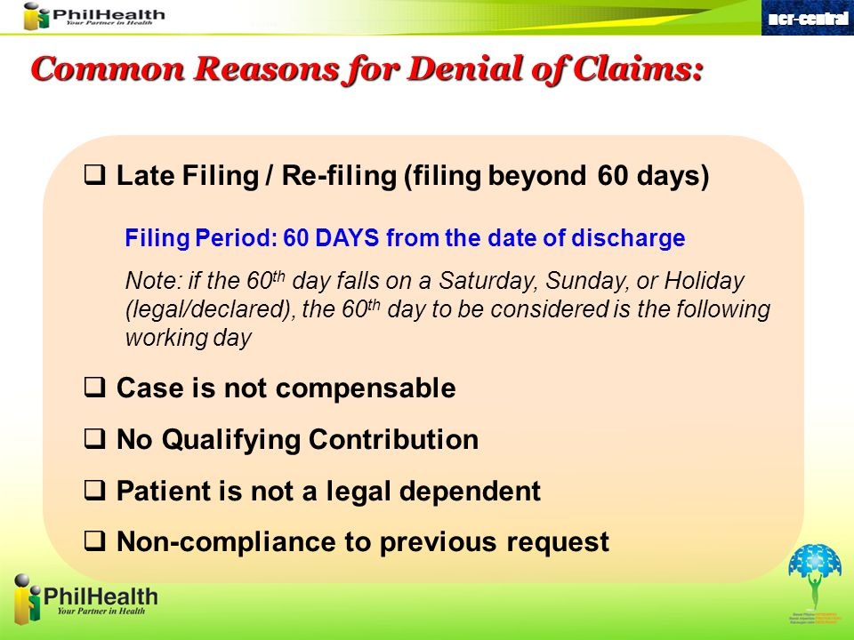 Common Reasons for Denial of Claims: