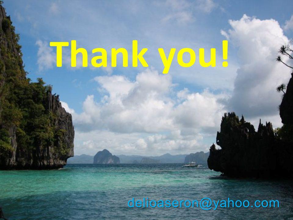 Thank you! delioaseron@yahoo.com