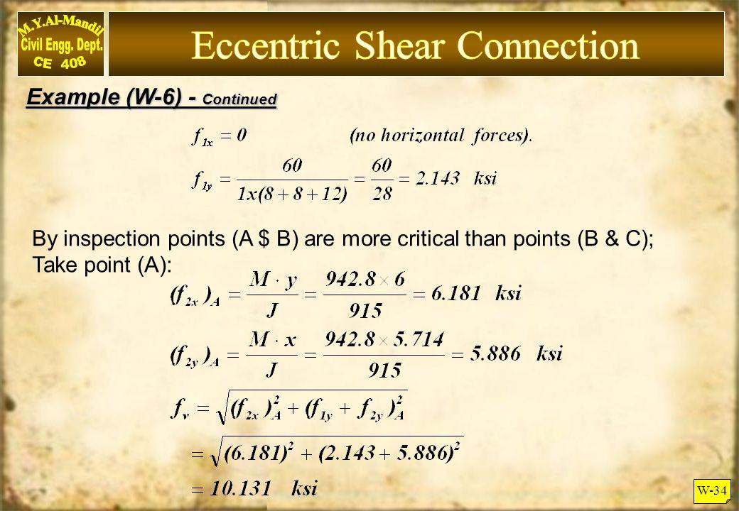 Eccentric Shear Connection