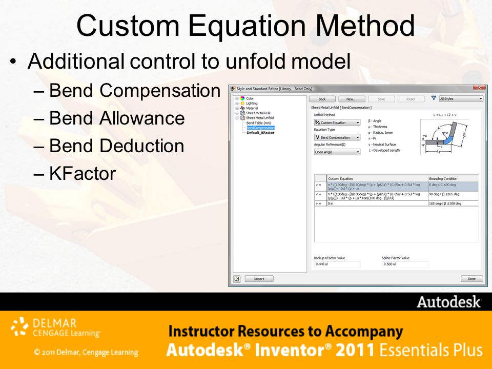 Custom Equation Method