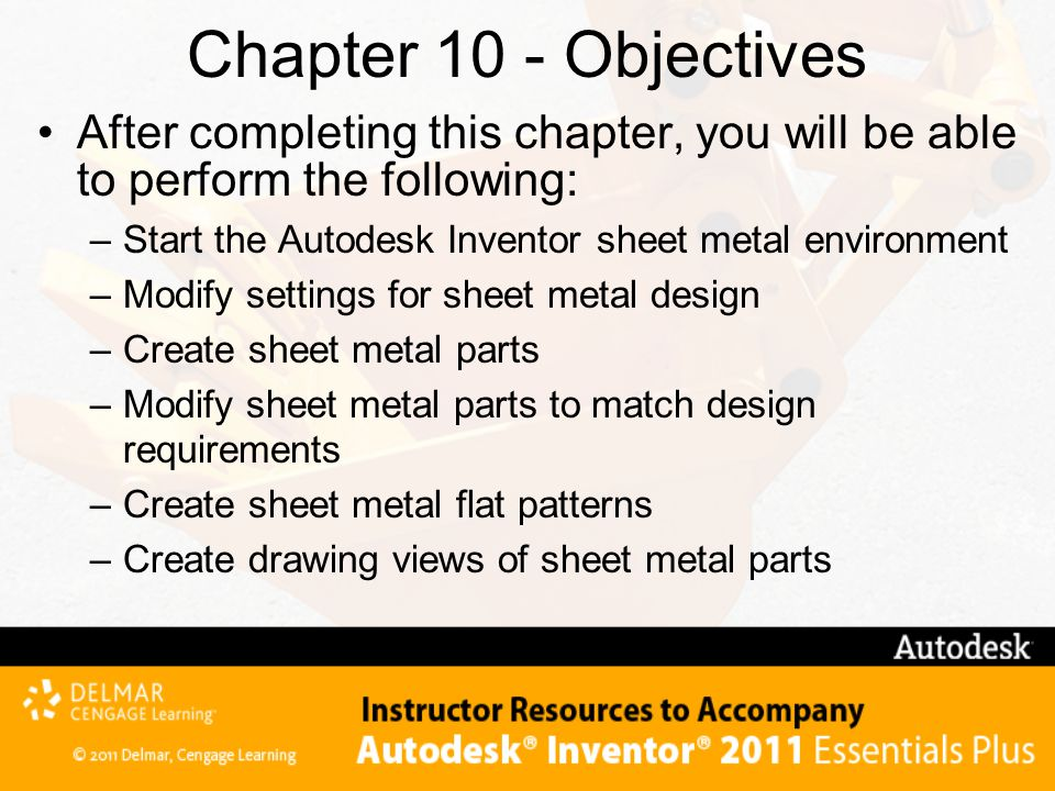Chapter 10 - Objectives After completing this chapter, you will be able to perform the following: