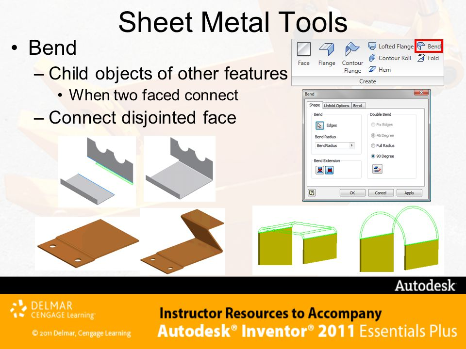 Sheet Metal Tools Bend Child objects of other features