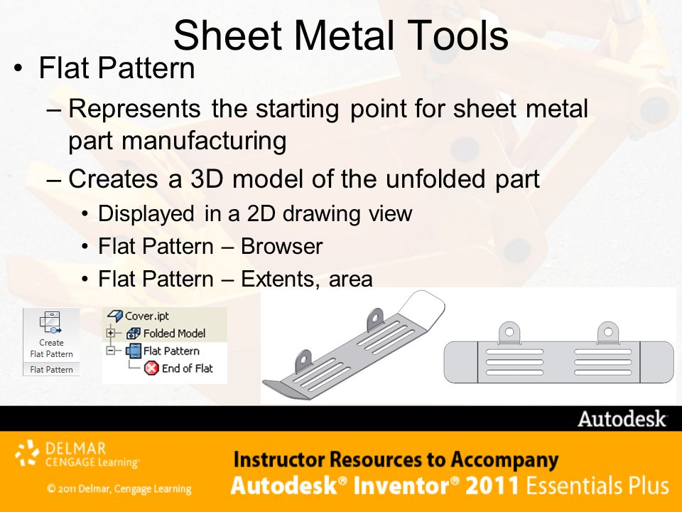 Sheet Metal Tools Flat Pattern