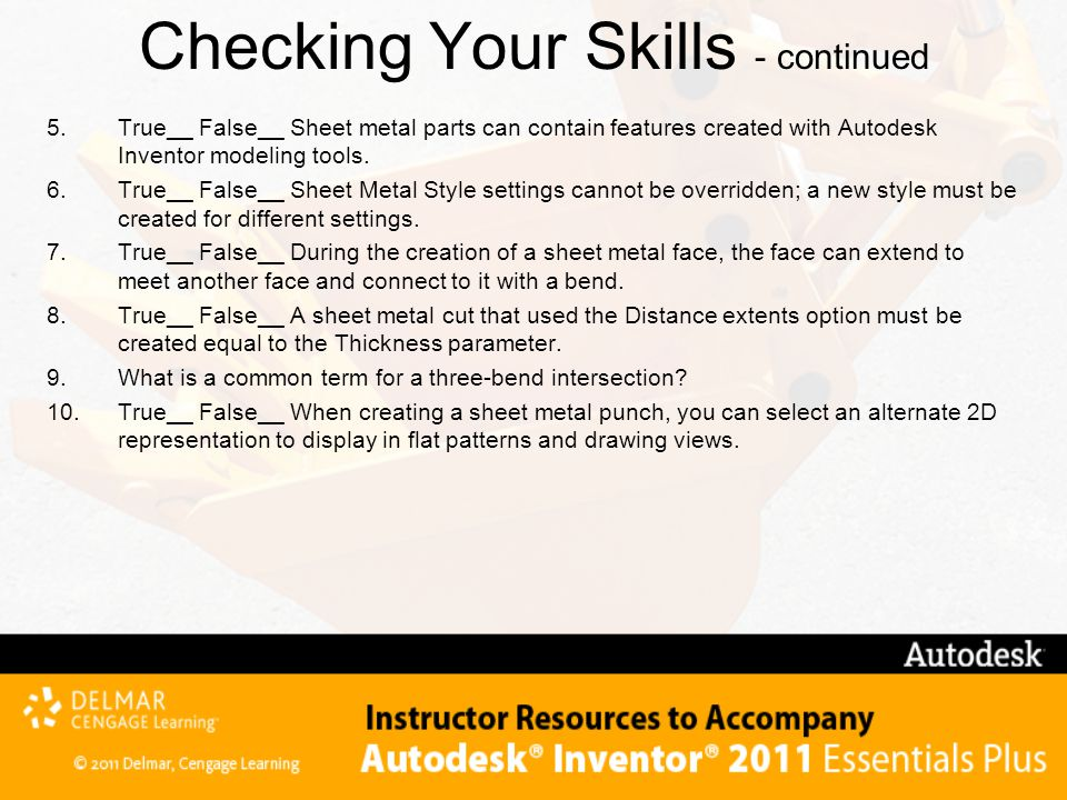 Checking Your Skills - continued