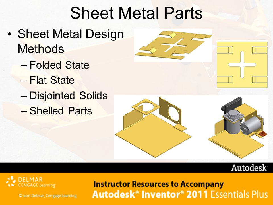Sheet Metal Parts Sheet Metal Design Methods Folded State Flat State