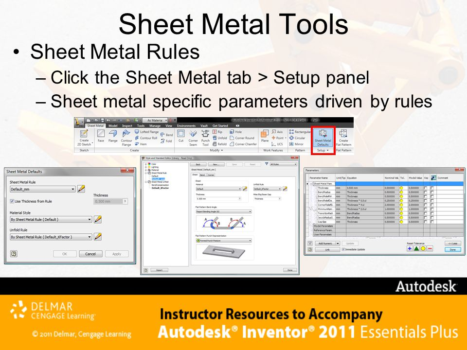 Sheet Metal Tools Sheet Metal Rules