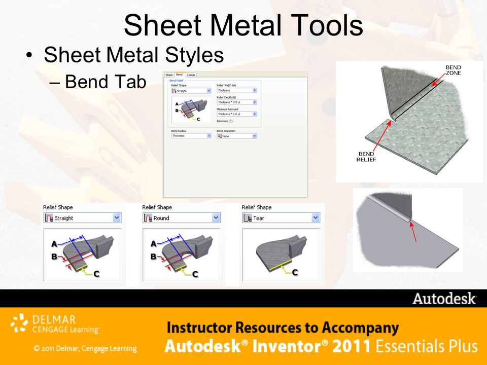 Sheet Metal Tools Sheet Metal Styles Bend Tab Technical Note