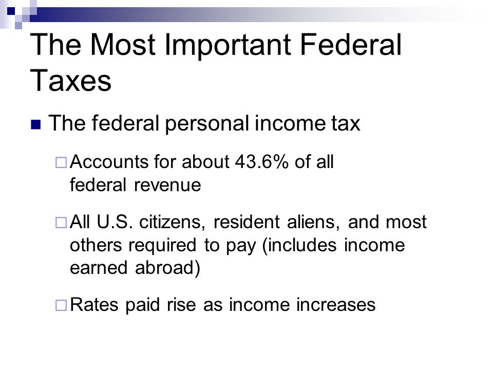 The Most Important Federal Taxes