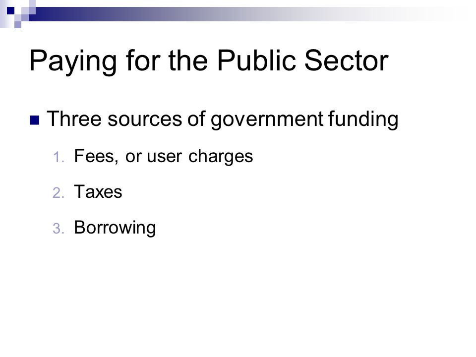 Paying for the Public Sector