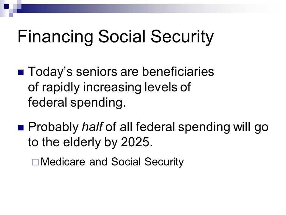 Financing Social Security