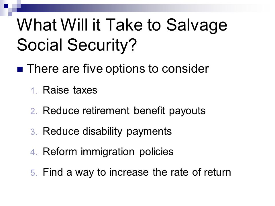 What Will it Take to Salvage Social Security