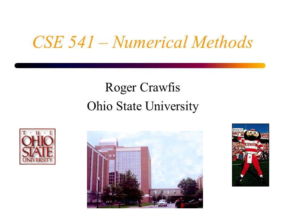 CSE 541 – Numerical Methods