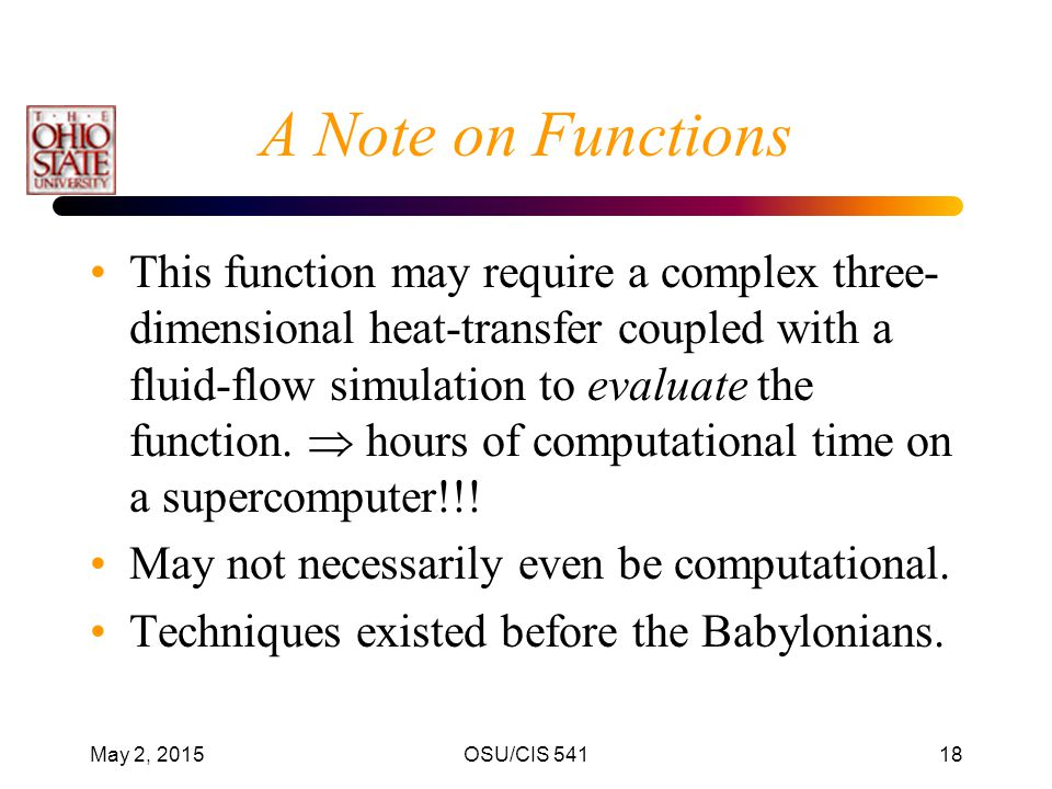 A Note on Functions