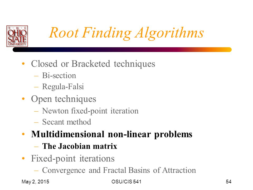 Root Finding Algorithms