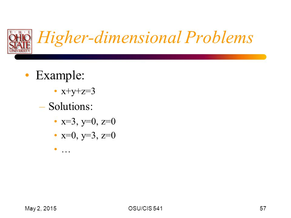 Higher-dimensional Problems