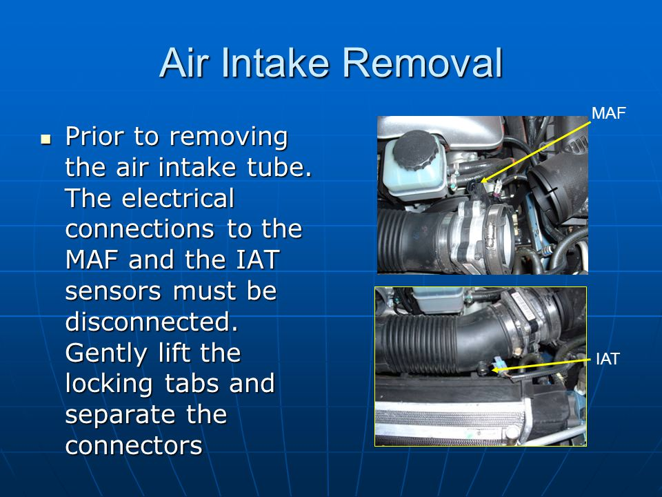Air Intake Removal MAF.