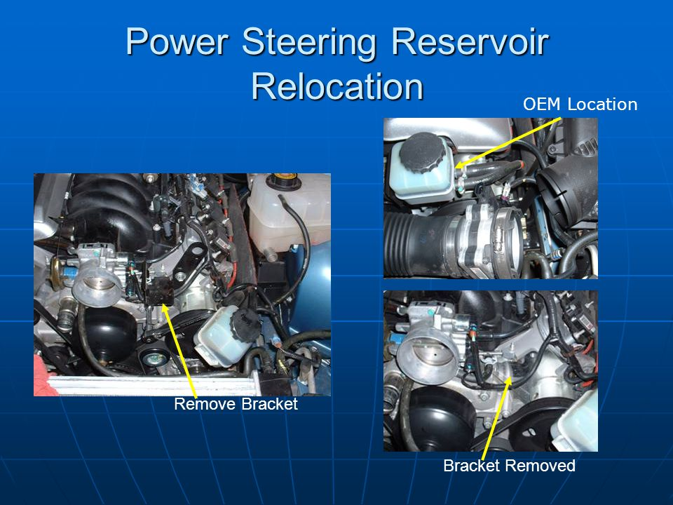 Power Steering Reservoir Relocation