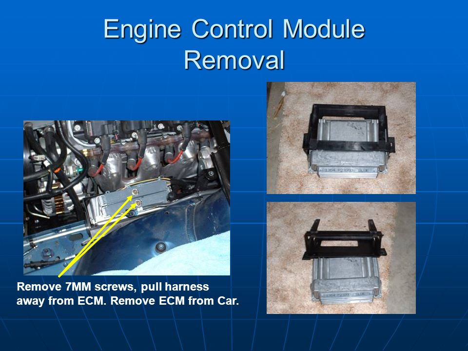Engine Control Module Removal