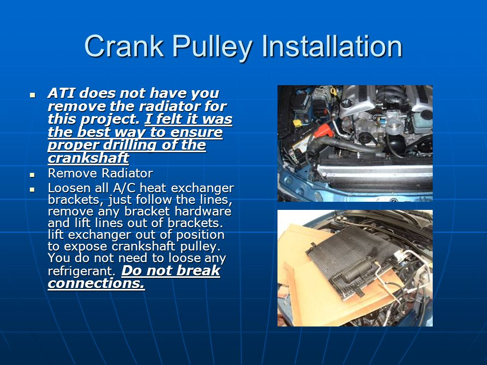 Crank Pulley Installation