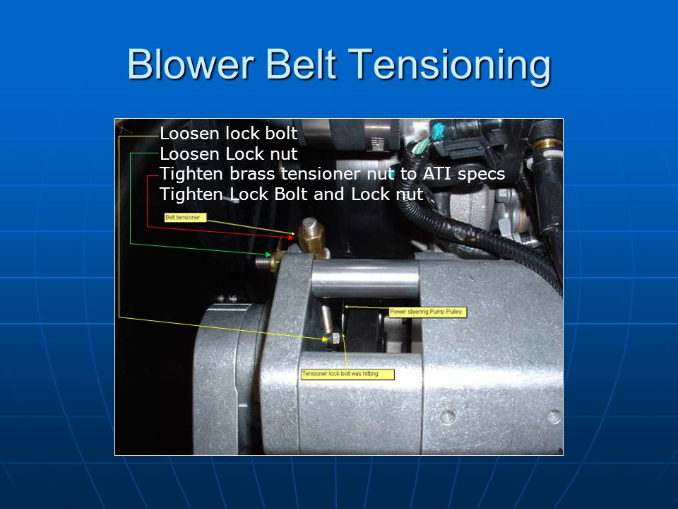 Blower Belt Tensioning
