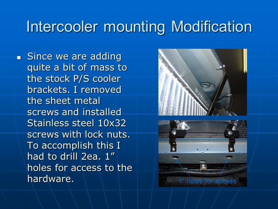 Intercooler mounting Modification