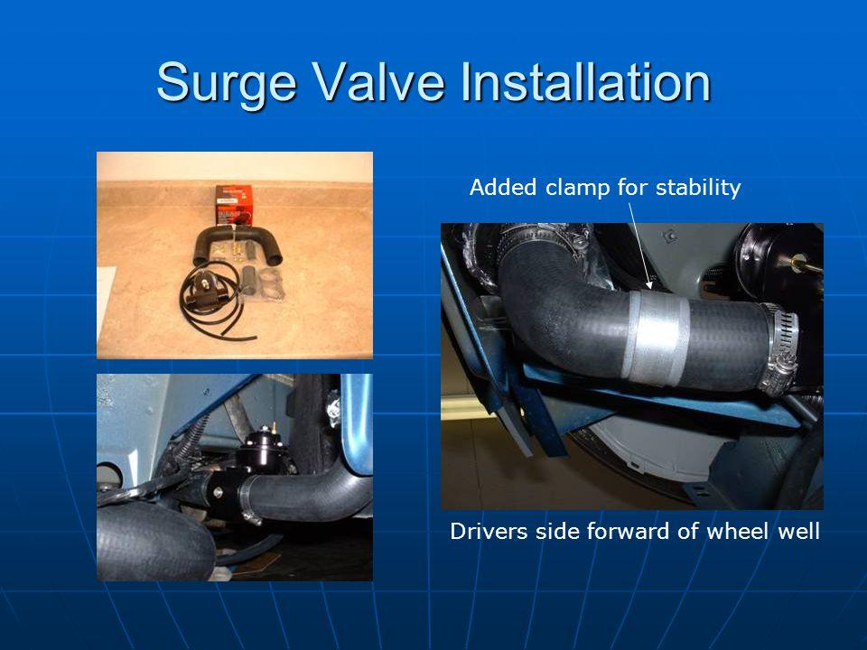 Surge Valve Installation