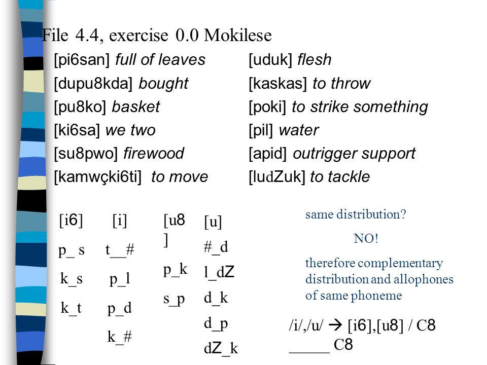 File 4.4, exercise 0.0 Mokilese