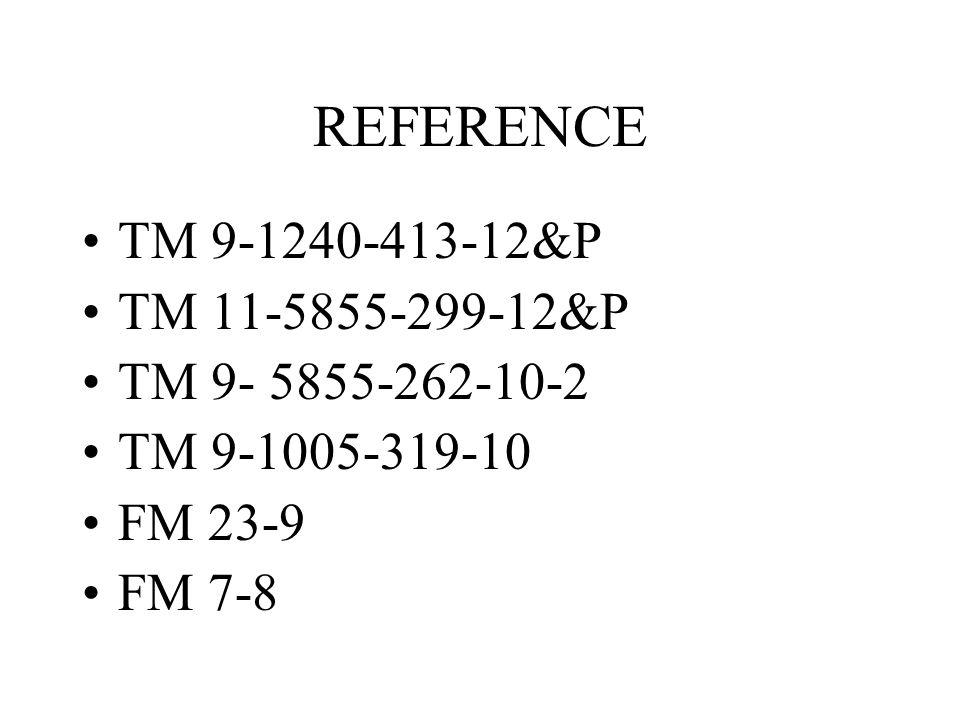 REFERENCE TM 9-1240-413-12&P TM 11-5855-299-12&P TM 9- 5855-262-10-2