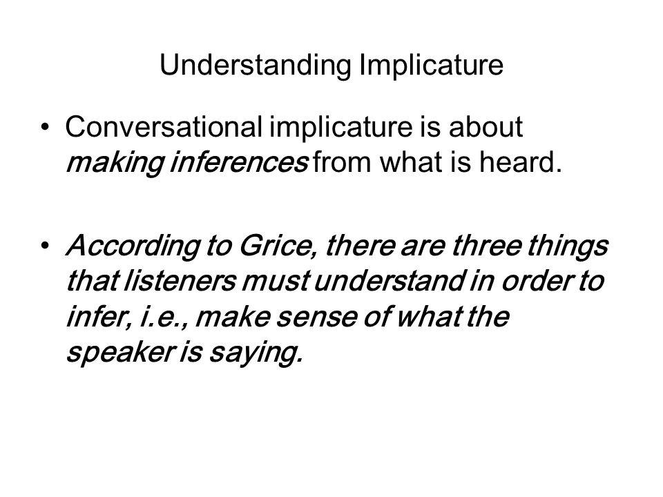 Understanding Implicature