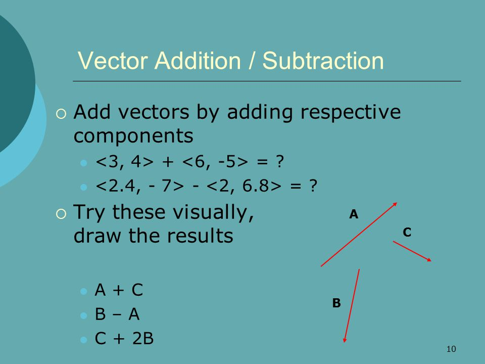 Vector Addition / Subtraction
