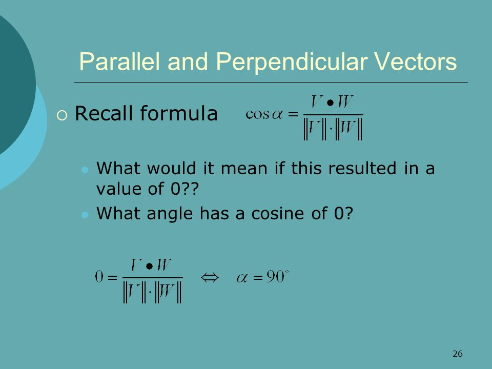 Parallel unit vectors