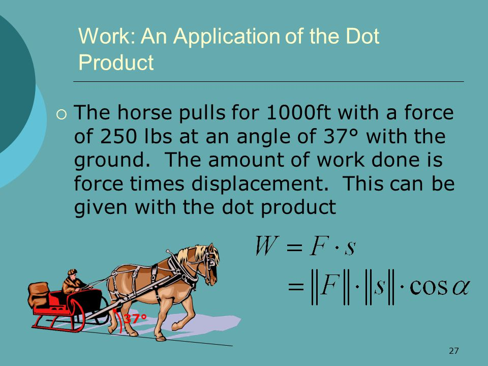 Work: An Application of the Dot Product