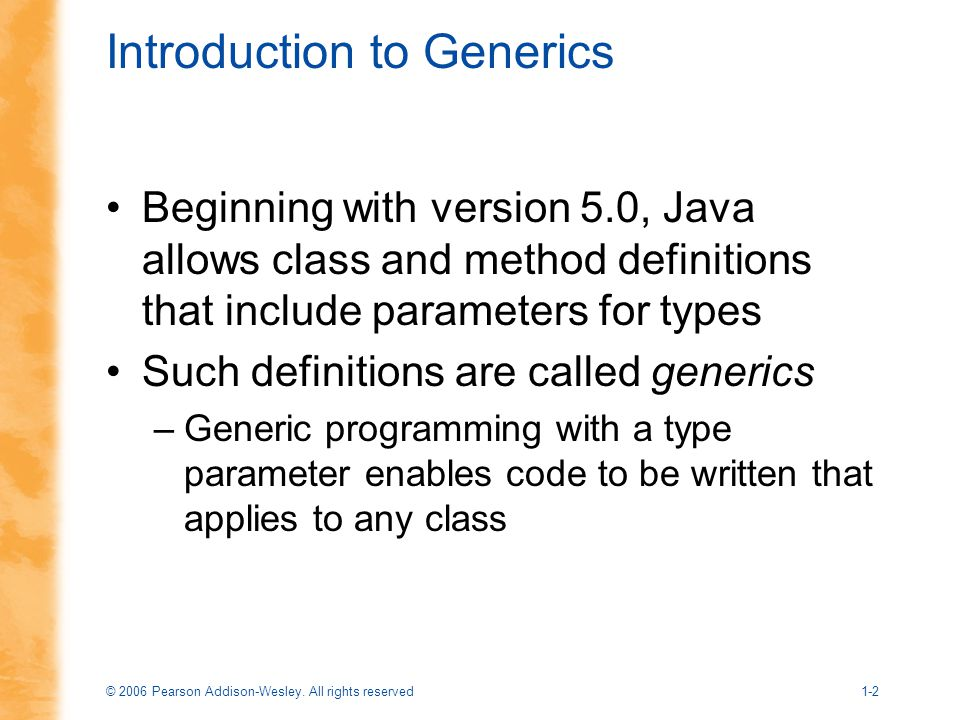 Introduction to Generics