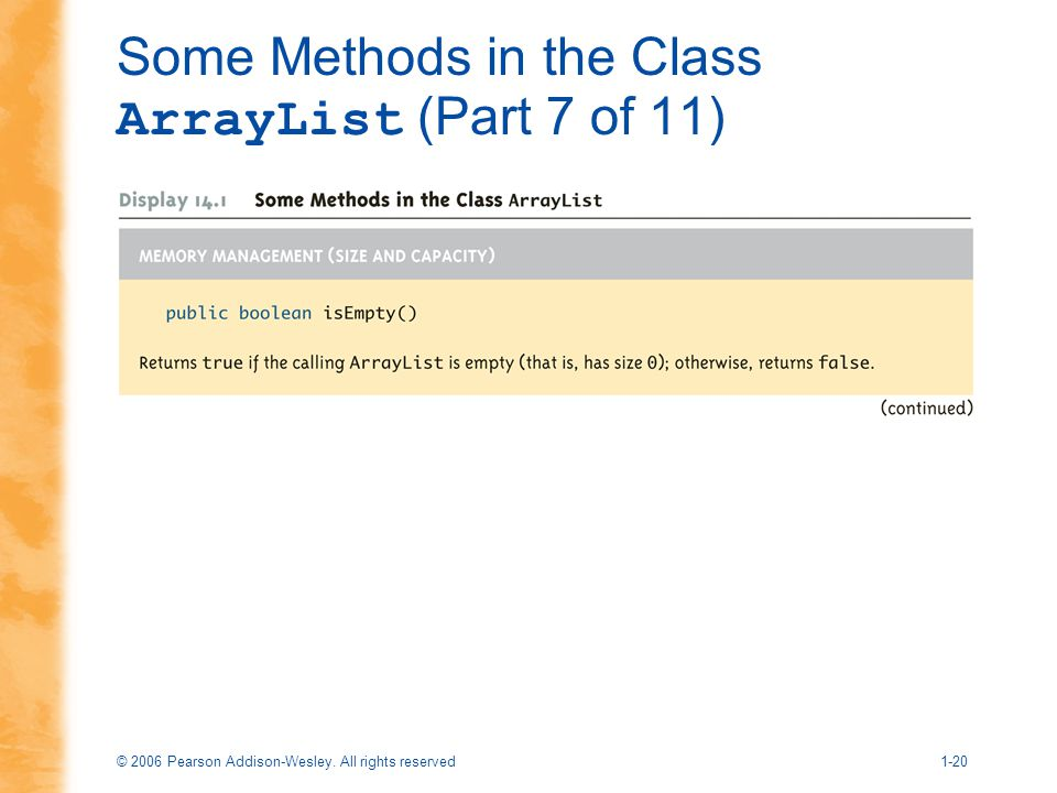 Some Methods in the Class ArrayList (Part 7 of 11)