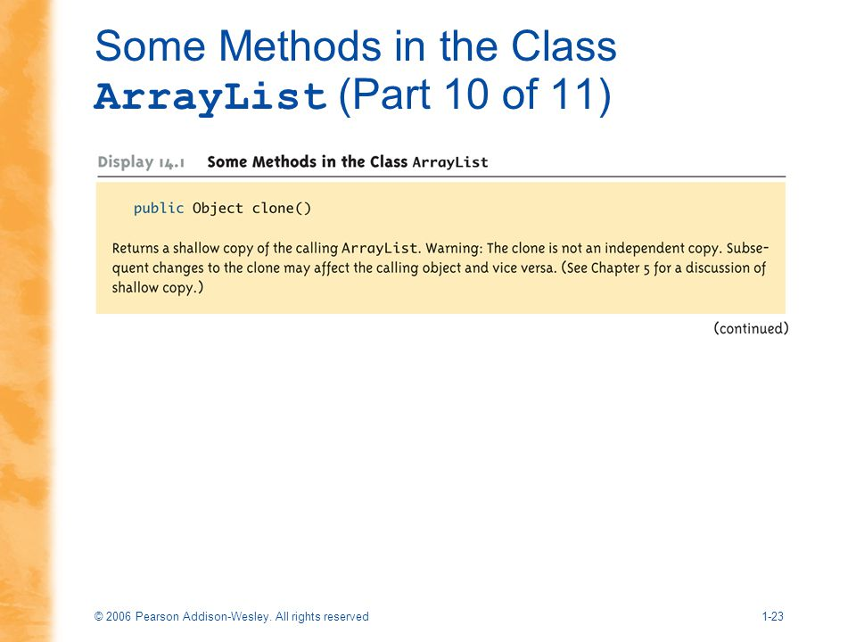 Some Methods in the Class ArrayList (Part 10 of 11)