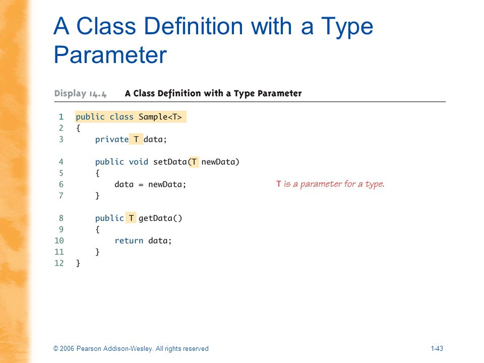 A Class Definition with a Type Parameter