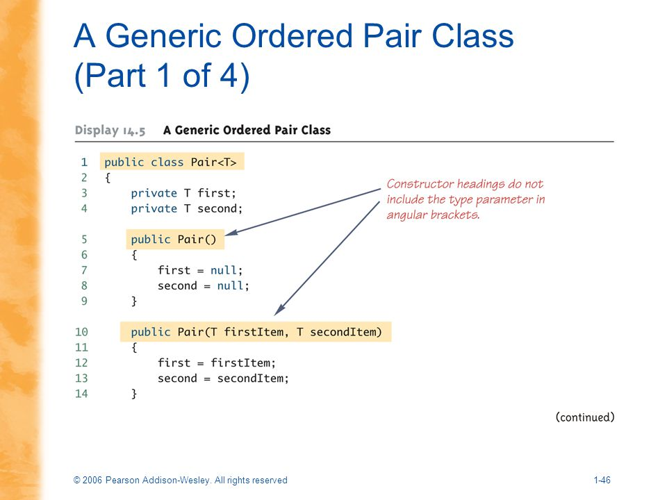 A Generic Ordered Pair Class (Part 1 of 4)