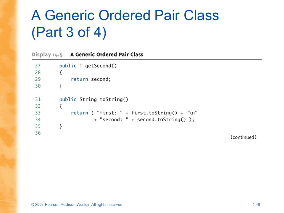 A Generic Ordered Pair Class (Part 3 of 4)