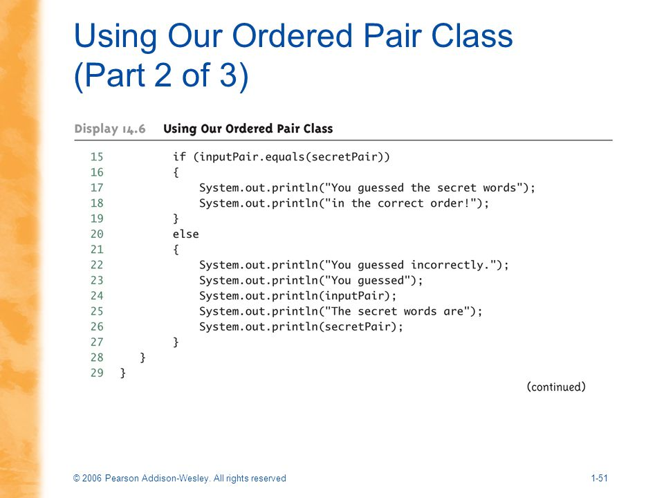 Using Our Ordered Pair Class (Part 2 of 3)