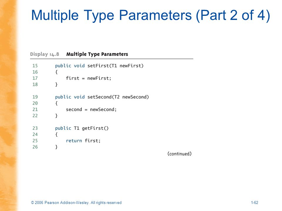 Multiple Type Parameters (Part 2 of 4)