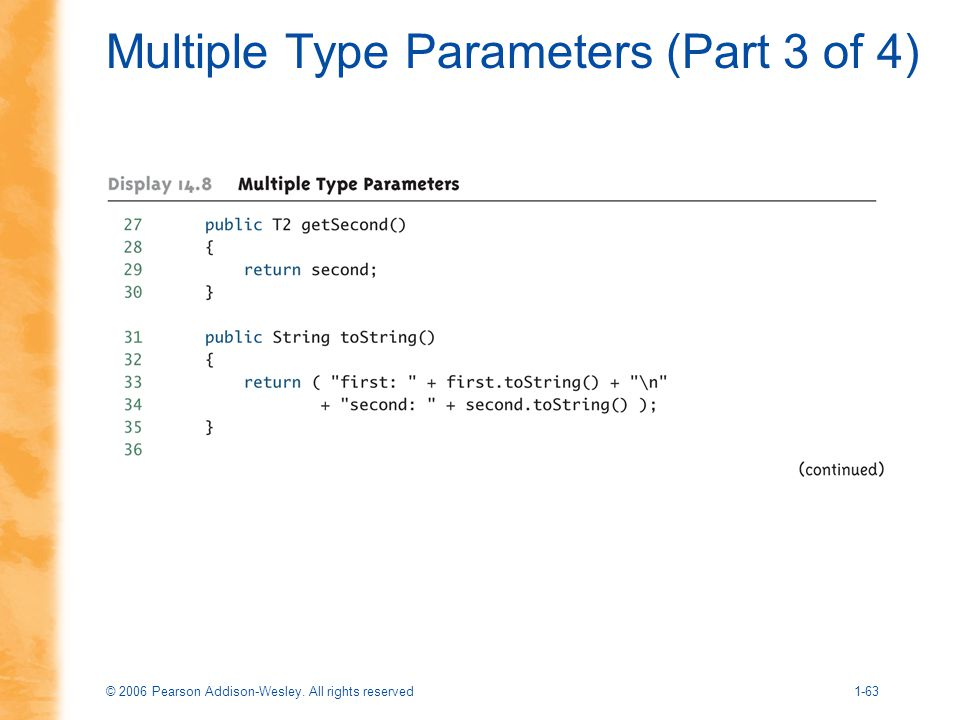 Multiple Type Parameters (Part 3 of 4)