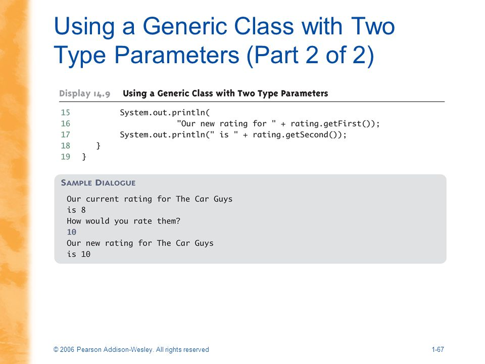 Using a Generic Class with Two Type Parameters (Part 2 of 2)
