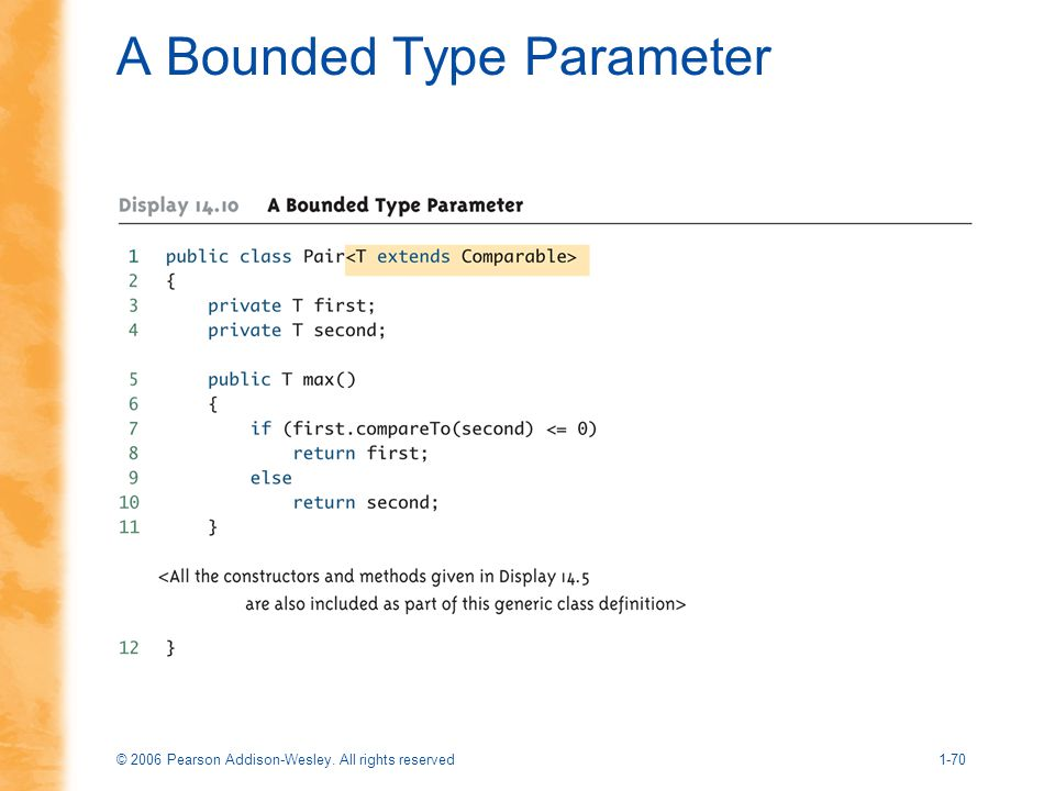 A Bounded Type Parameter